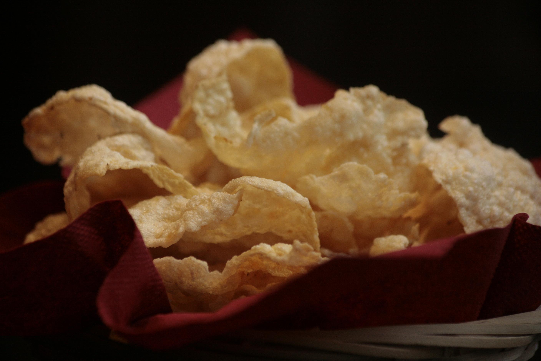 H3 Emping Melindjo Licht bittere chips gemaakt van de Indonesische Melindjo noot.